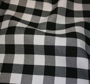 Where to find CHECK PRINT LINEN, BLACK in Ventura