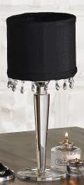 Rental store for TABLE LAMPS - CRYSTAL W BLACK SHADE 14 in Ventura CA
