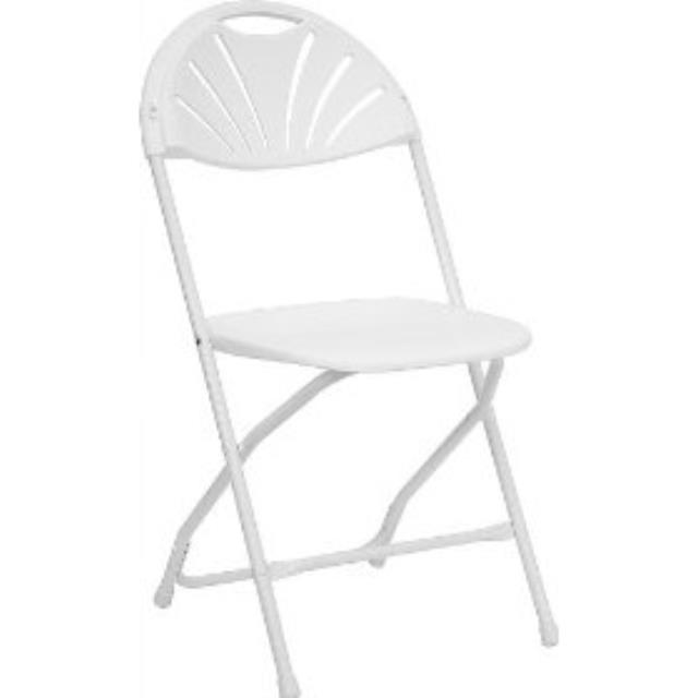 Where to find CHAIR, WHITE FAN BACK SAMSONITE in Ventura