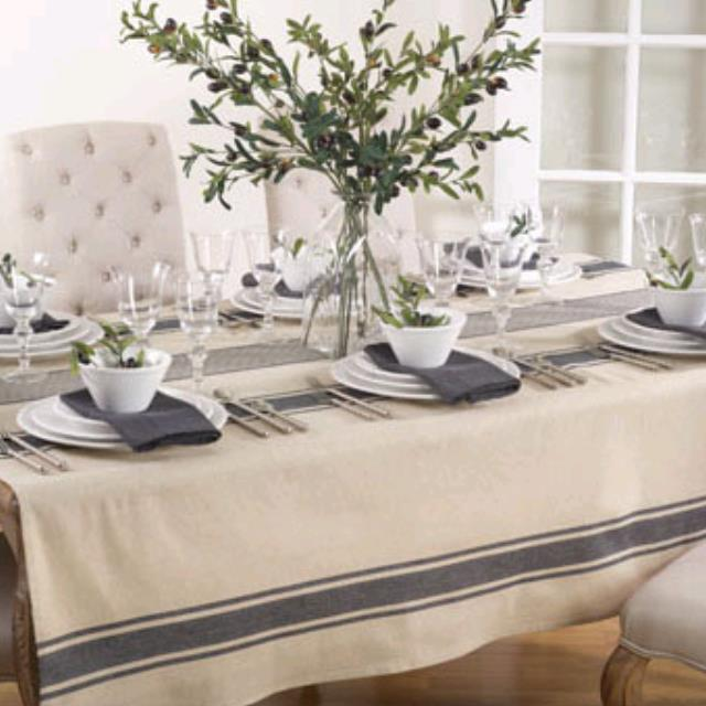 Where to find SPECIALTY LINEN, NATURAL BANDED 72  SQ in Ventura