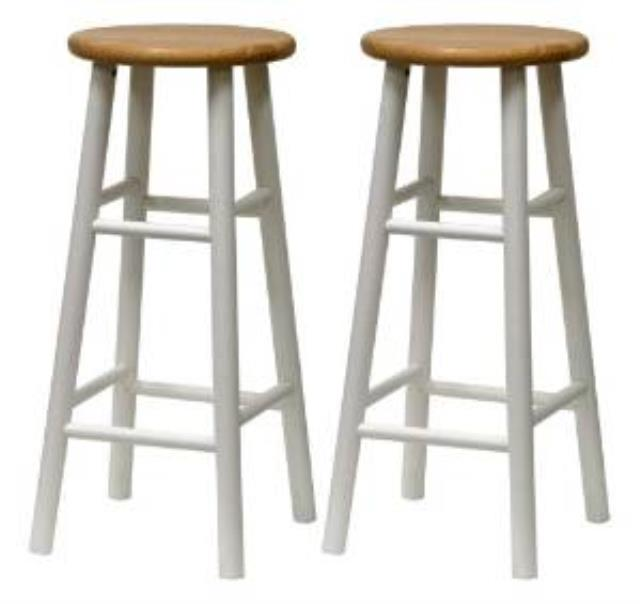 Where to find BAR STOOL WOOD, WHITE WITH WOOD TOP in Ventura