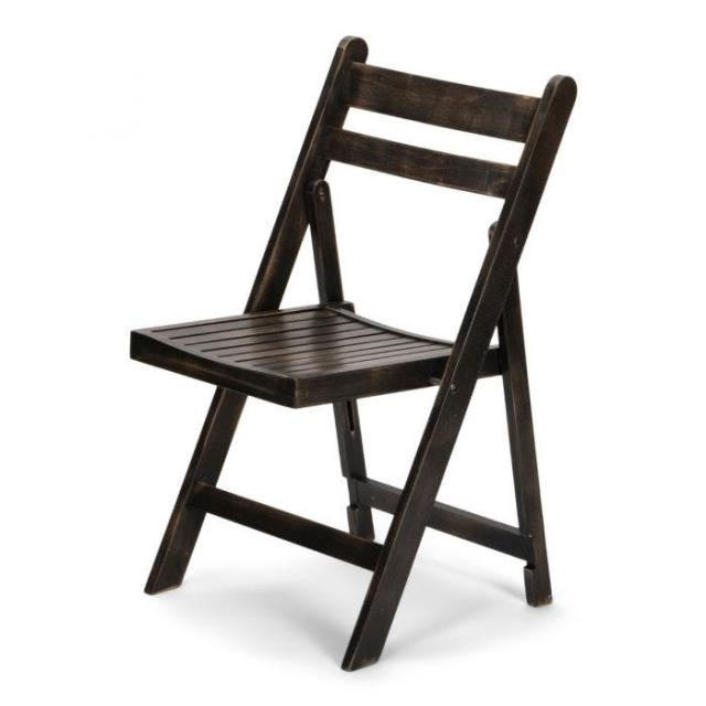 Where to find WOOD SLATTED FOLDING CHAIR - BROWN in Ventura