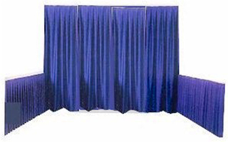 Where to find PIPE   DRAPE 8  HIGH - ROYAL BLUE LN FT in Ventura