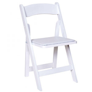 Where to find FOLDING CHAIR, WHITE RESIN WOOD in Ventura
